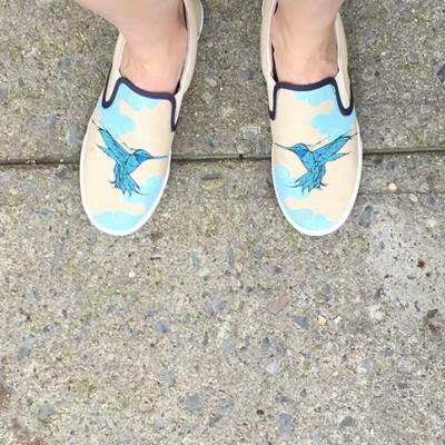 Hummingbird Slip Ons